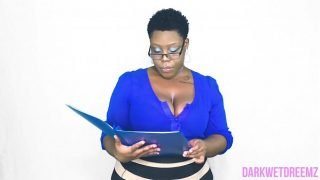 An Open Mouth Policy | Natural Ebony BBW