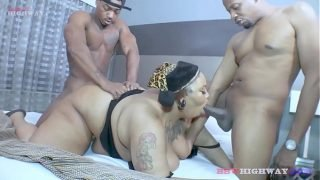 bbw chokahontas blowing two bbc studs