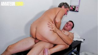 Bbw Erna and Don John in Bbw German Gilf Rides Young Guy At Her Place