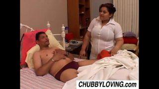 Bubbly big tits BBW babe Karla is a naughty nurse