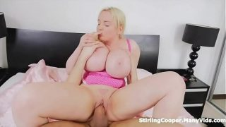 Busty Russian Blonde Sucking and Riding Dick