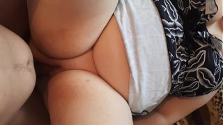 Chubby slut wife begs her lover to fuck her big ass – bbw loves anal
