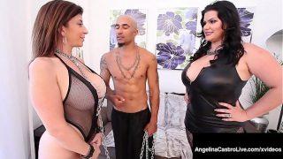 Curvy Cuban Angelina Castro and Big Black Cock Fuck Sara Jay