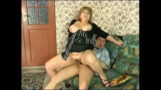 cute blonde bbw babe  enjoying her time with a huge and young cock in her hot pussy