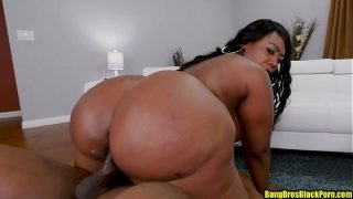 Ebony BBW babe with a fat ass crushes a black dick