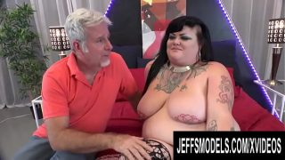 Exotic Potbellied BBW Sasha Syren Gets Finger Fucked and Porked Sideways