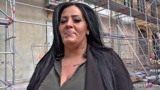 GERMAN SCOUT – BBW Teen Ashley bei Strassen Casting gefickt