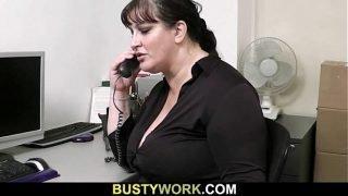 Horny co worker bangs BBW