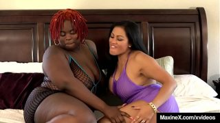 Oriental Mommy Maxine Wrecked By Four Big Black Cocks and One Bbw